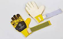 Перчатки вратарские с защитными вставками на пальцы FB-903 CHAMPIONS LEAGUE (PVC,р-р 7-10, цвета в, фото 3