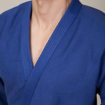 Кимоно для дзюдо MATSA MA-0015 (хлопок-плотность 450г на м2, размер 00-6, рост-120-190см, синий), фото 3