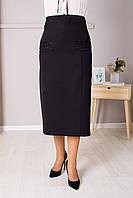 Классическая черная юбка украшена кружевом, фото 1