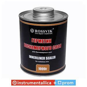 Герметик бескамерного слоя иннерлайнер 1000 г с кисточкой Россвик Rossvik