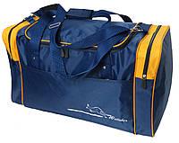 Дорожная сумка 60 л Wallaby 430-3 синий с желтым