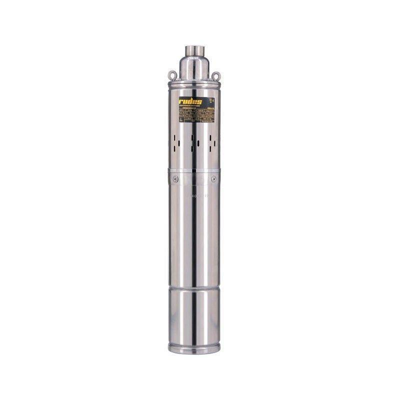 Скважинный насос Rudes 3S 0,8-40-0,5 глубинный насос напор 70м, 520 Вт, кабель 10м