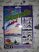 Трафарет для окон , 2 вида  AirArt Stencil