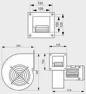 Нагнетательный вентилятор MplusM CMB/2 200 (S&P MY 711-2), фото 4