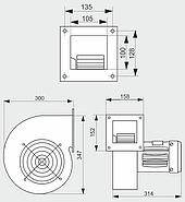 Нагнетательный вентилятор MplusM CMB/2 160 (S&P IEC 71 M2), фото 4