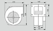 Нагнетательный вентилятор MplusM WPA HL 140, фото 2