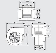 Нагнетательный вентилятор MplusM WPA 145 (EBM), фото 3
