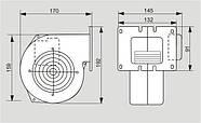 Нагнетательный вентилятор MplusM WPA 108, фото 3
