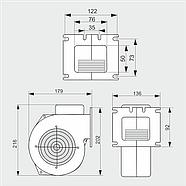 Нагнетательный вентилятор MplusM WPA HL 120, фото 2