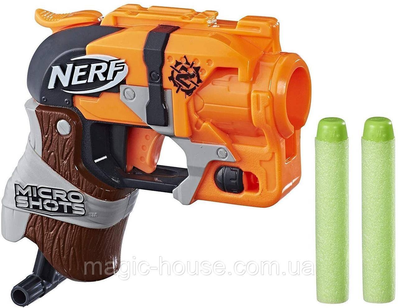 Бластер Nerf Зомби Страйк Микрошот Хаммершот  Zombie Strike MicroShots Hammershot