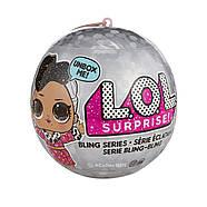 Кукла ЛОЛ Блинг Новогодний Оригинал L.O.L. Surprise! Bling Series with 7 Surprises, фото 4