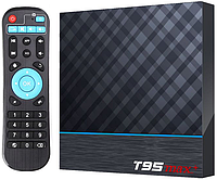 Приставка T95 Max Plus | 4/64 GB | Amlogic S905X3 | Android TV Box, фото 1