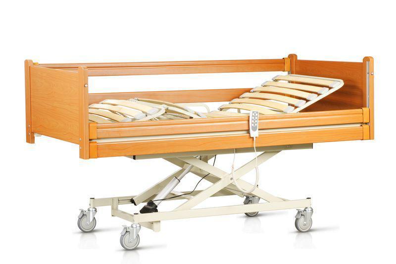 """Комплект OSD-NATALIE-90CM: Кровать с электромотором """"Natalie"""" на колесах, с крестовиною, с перилами и гусем, регулируемая высота 30-70см,"""
