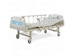 Ліжко лікарняна з електромотором на колесах, поручнями, сталевий каркас(4 секції) - OSD-B05P