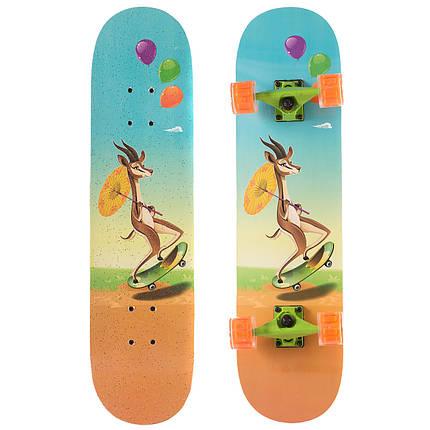 Скейтборд в сборе (роликовая доска) SK-1248-1 (колесо-PU, р-р деки см), фото 2