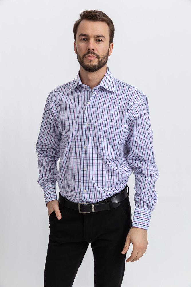 Рубашка 50PD23003 цвет Сиренево-голубой