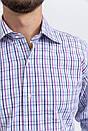 Рубашка 50PD23003 цвет Сиренево-голубой, фото 2