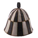 """Банная шапка Luxyart """"Клетка"""", натуральный войлок, серый с белым (LA-060), фото 2"""