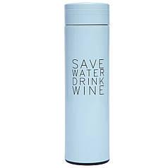 Бутылка-термос для воды SAVE WATER 480мл ZF-8274 (сталь, цвета в ассортименте) OHS-6901-450