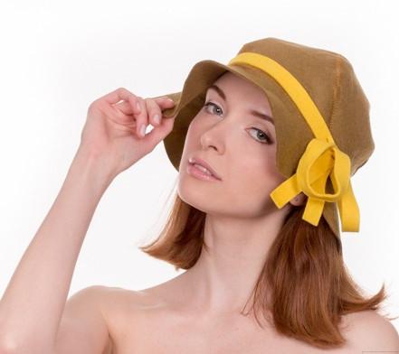 """Банная шапка Luxyart """"Леди"""", искусственный фетр, коричневый (LA-440)"""