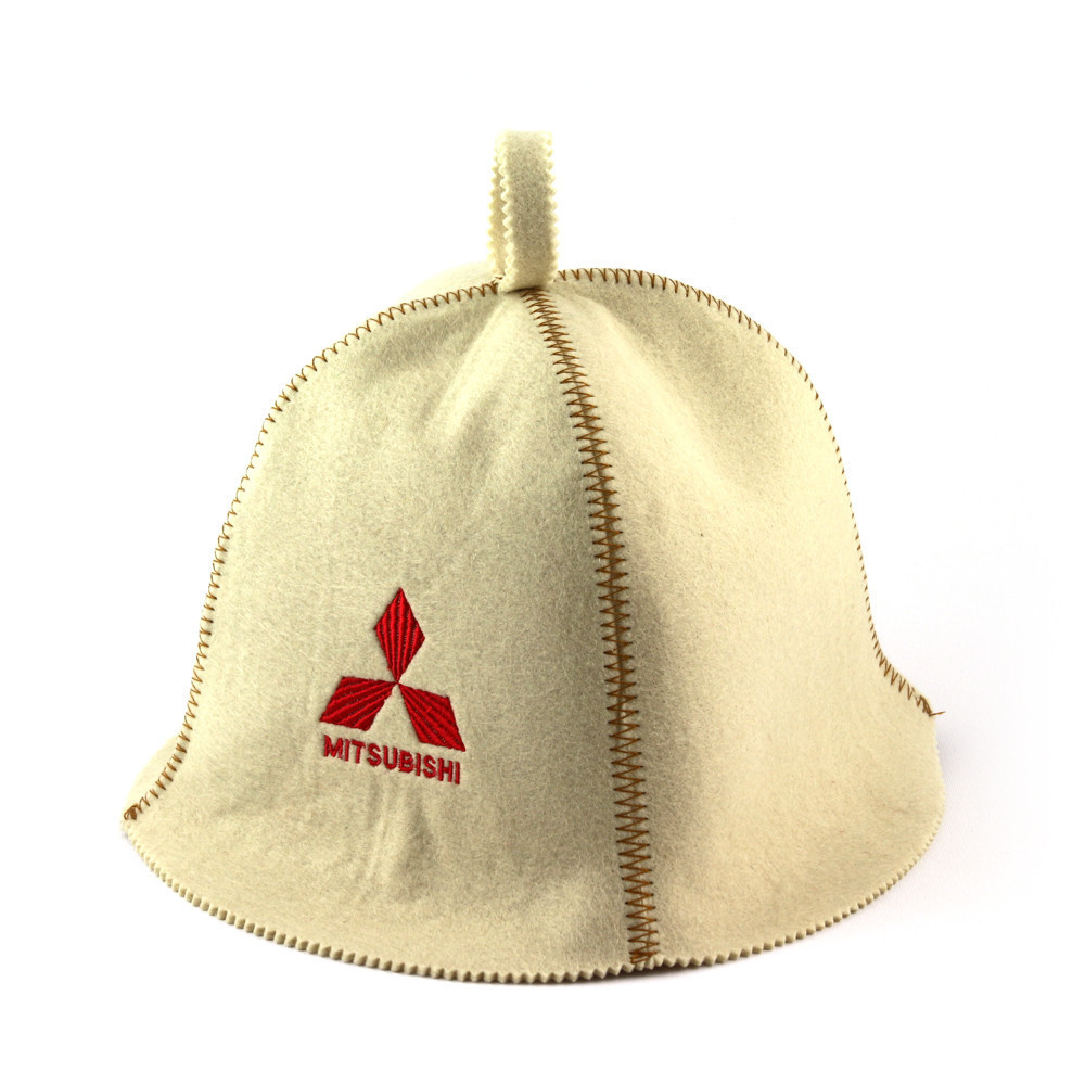 """Банная шапка Luxyart """"Mitsubishi"""", искусственный фетр, белый (LA-310)"""