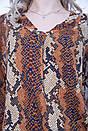 Блуза 103R071 цвет Коричнево-черный, фото 2