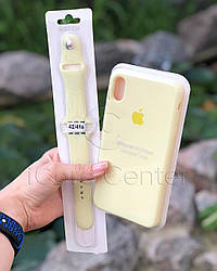 Силиконовый ремешок для apple watch 38 / 40 мм  Sport Band mellow yellow (Волшебно-Желтый)