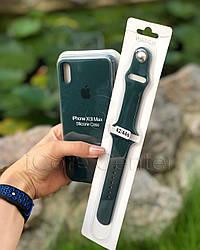 Силіконовий ремінець для apple watch 38 / 40 мм Sport Band forest green (Зелений)