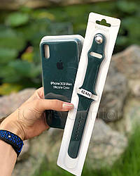 Силиконовый ремешок для apple watch 38 / 40 мм  Sport Band forest green (Зеленый)