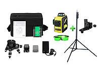 SHARP》》》50м☀ Лазерный 3D нивелир Firecore F93T ХG + ШТАТИВ 3 метра+Кронштейн ➤МЕГАКОМПЛЕКТ!