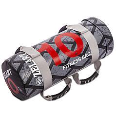 Мішок для кроссфита і фітнесу FI-0899-10 Power Bag (PVC, нейлон, вага 10кг, чорний-червоний)