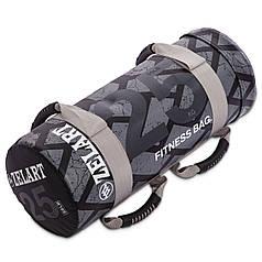 Мішок для кроссфита і фітнесу FI-0899-25 Power Bag (PVC, нейлон, вага 25кг, чорний-сірий)