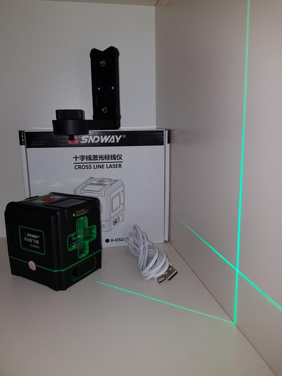 БИРЮЗОВЫЙ ЛУЧ 50м🟢 Лазерный уровень SNDWAY H-D331g ⚠️Акция→кронштейн ⚠️Li-ion⚠️Tupe-C⚠️наклонный режим⚠️