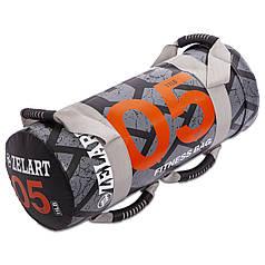 Мешок для кроссфита и фитнеса FI-0899-5 Power Bag (PVC, нейлон, вес 5кг, черный-оранжевый)