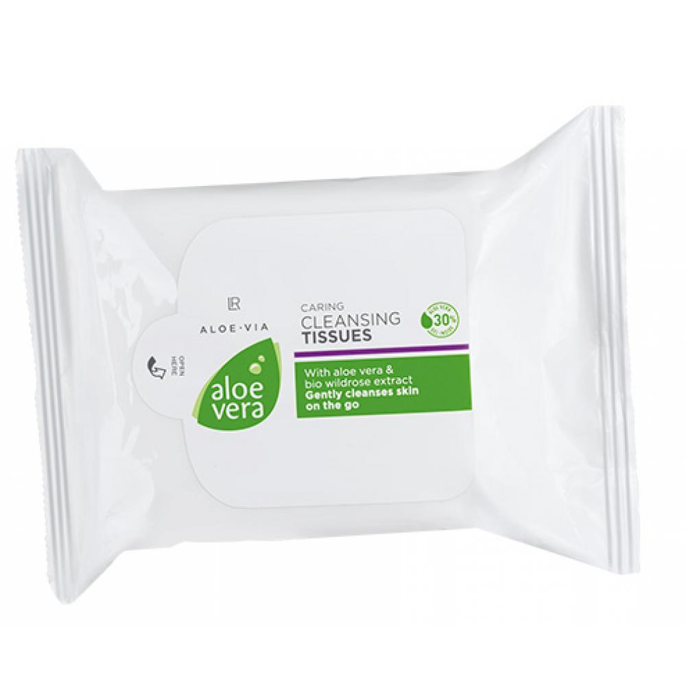 Мягкие очищающие салфетки LR Health & Beauty ALOE VIA Aloe Vera, 25 шт, 20672