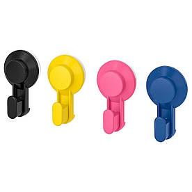 IKEA, TISKEN, Крючок с присоской, разные цвета (203.812.73)(20381273) ТИСКЕН ИКЕА