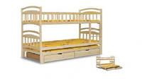 """Двухъярусная кровать с выкатным спальным """"Карина-ТРИО"""""""
