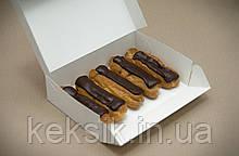 Коробка для эклеров белая 23*15*6 см