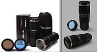 Термочашка в форме объектива Caniam (Canon) EF 70-200 с чехлом Черная, фото 1