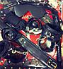 Набор черный Садо-мазо, фетиш, BDSM.БДСМ .Плетка, веревка 5 м.,маска, кляп,наручники 2 пары, ошейник.1