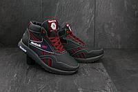 Мужские кроссовки кожаные зимние синие-красные CrosSAV 50