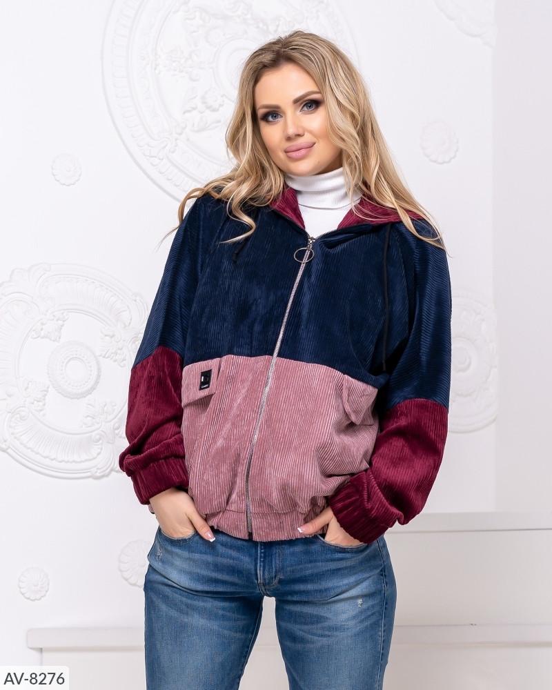 Женская вельветовая куртка ветровка больших размеров 48-58