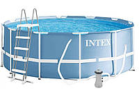 Каркасный бассейн Intex 26718, 366 x 122 см PRISM FRAME POOL, фильтр насос и лестница