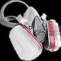 Респиратор для покраски (копия 3M 6200) полный комплект, защитная полумаска с угольными фильтрами