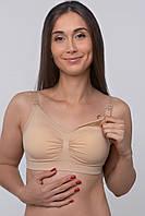 Бюстгальтер-топ из спандекса для кормления грудью (бежевый), фото 1