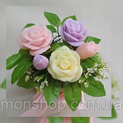 Букет из мыла розы (средний)
