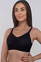 Бюстгальтер-топ из спандекса для кормления грудью (чёрный), фото 1