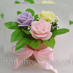 Букет из мыла роза (малый)