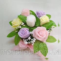 Мыльный букет роз (большой)