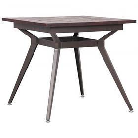 Стол обеденный Morrison coffee каркас металл столешница цвет Орех 800*800 мм (AMF-ТМ)